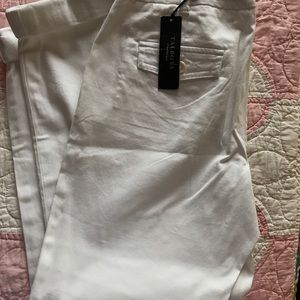 NWT  white Talbots Signature ankle length pants